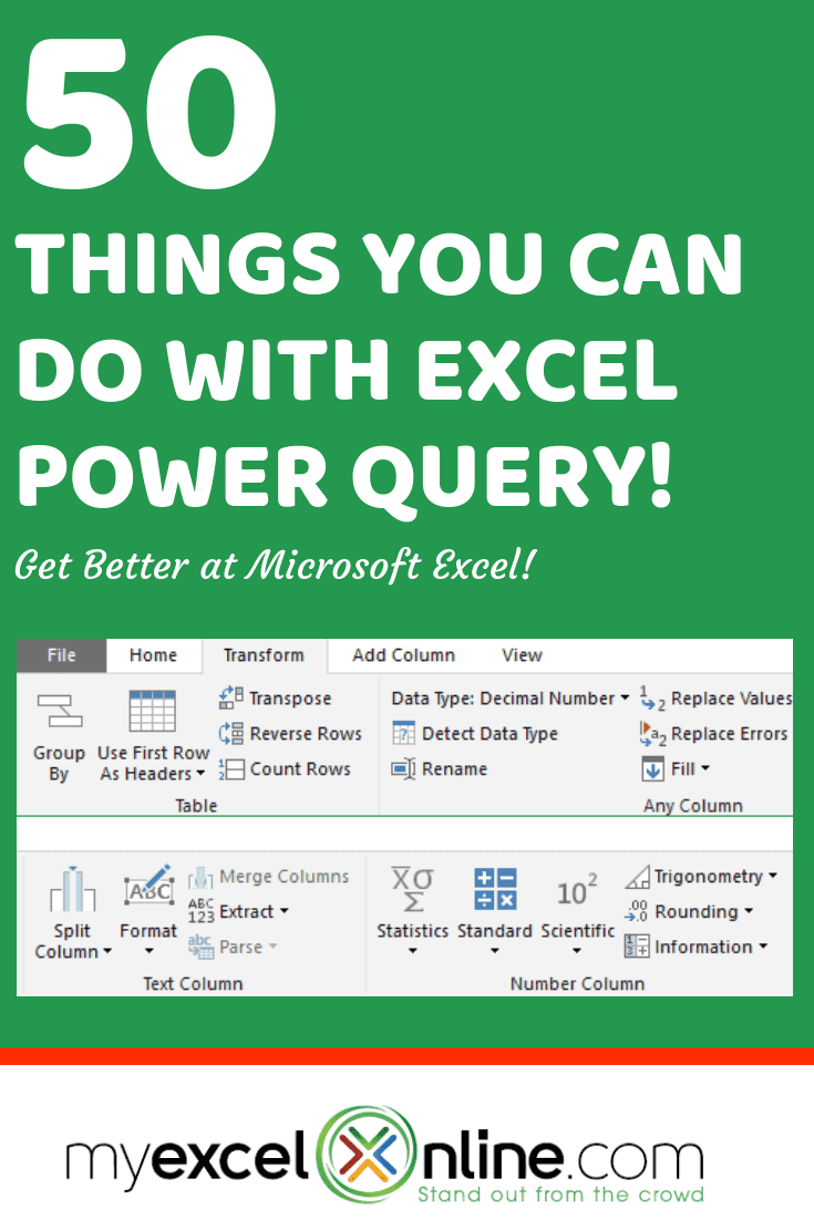 How to use power query / get and transform in microsoft excel 2016.