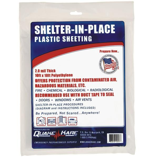 Emergency Supplies Shelter In Place Plastic Sheeting Emergency Shelter Plastic Sheets