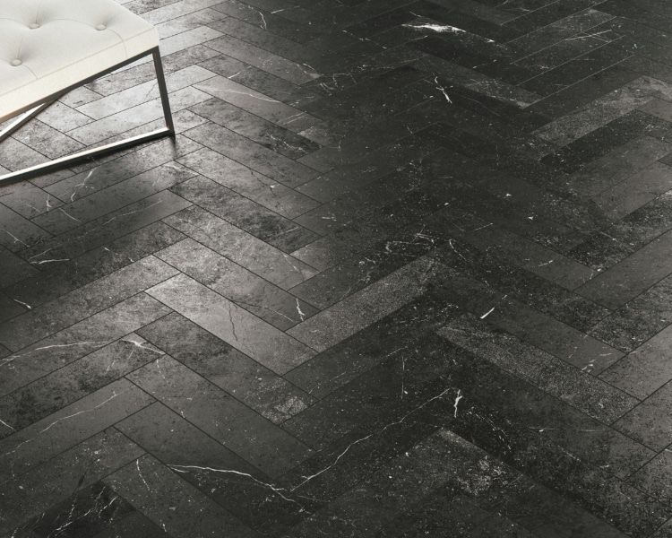 Charcoal Grey Marble Look Ceramic Tiles Tile Floor Herringbone Tile Floors Bullnose Tile