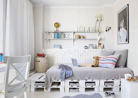Schlafzimmereinrichtung mit Paletten | Bedrooms, Living rooms and Future