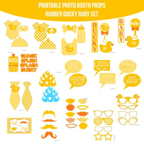 Instant Download Baby Rubber Ducky Printable Photo Booth Prop Set ...