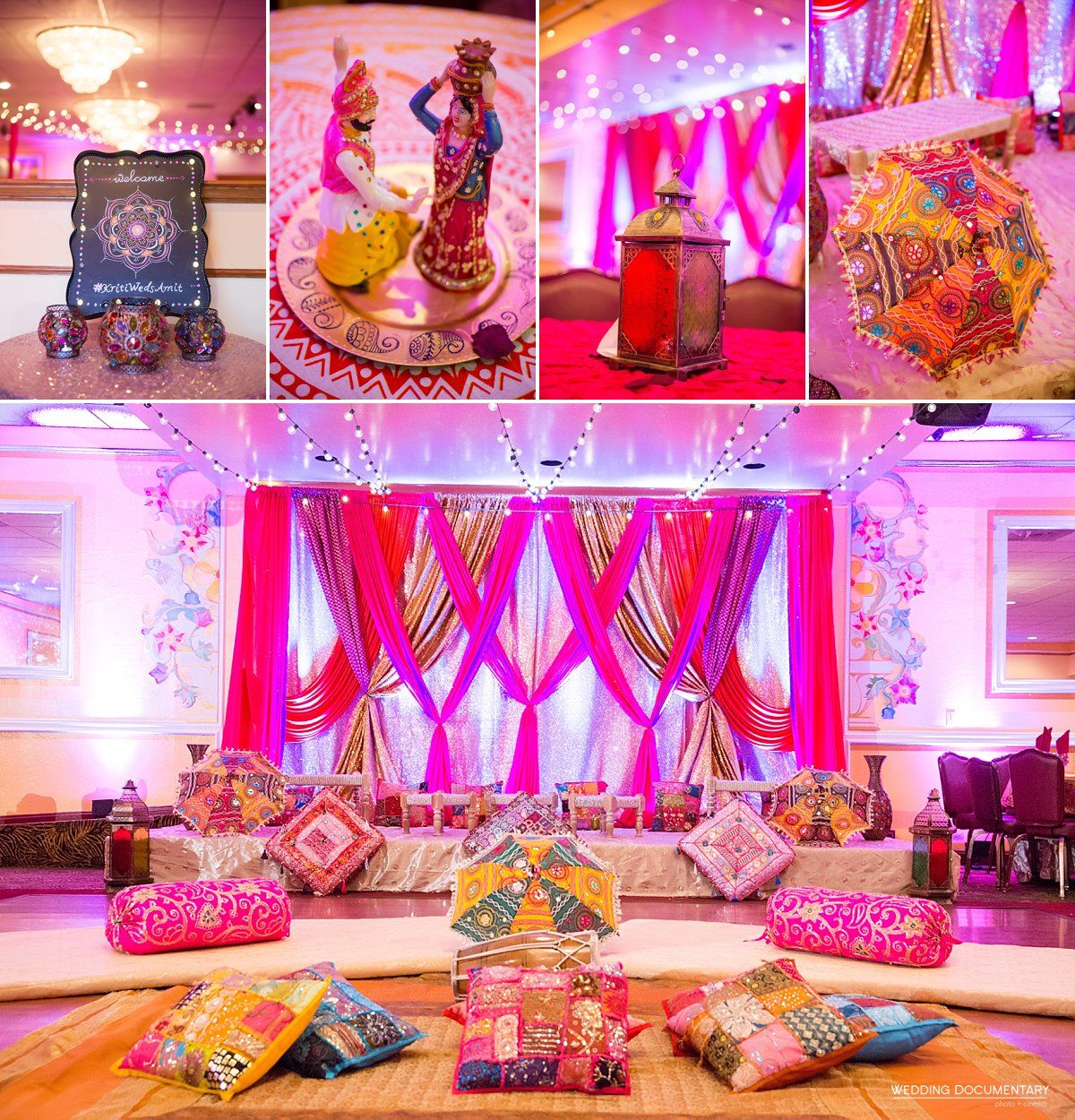 Ladies Sangeet Bay Area Decorations by R&R Event Rentals