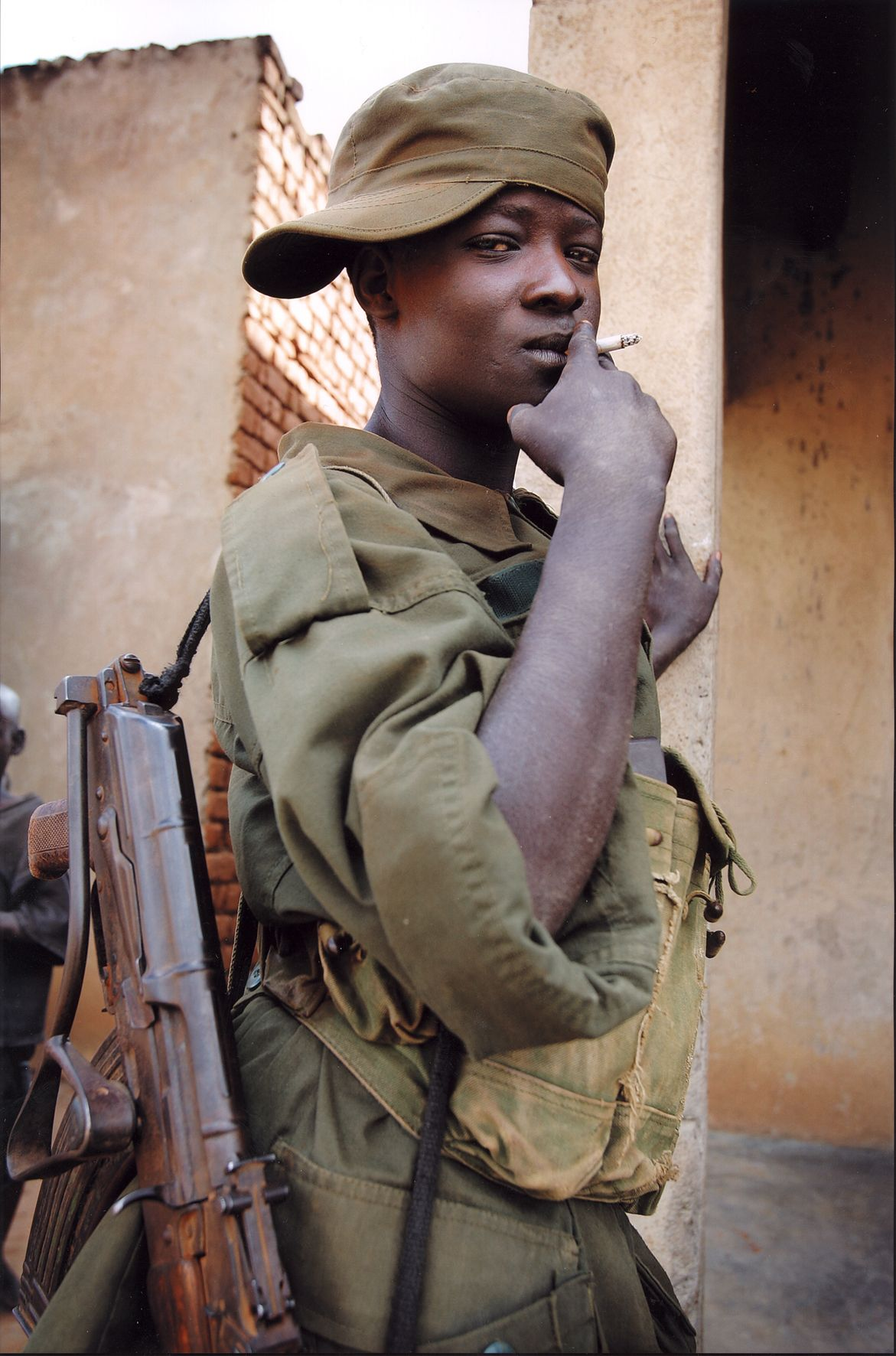 Child soldier in Uganda (with slightly rusty East German ...