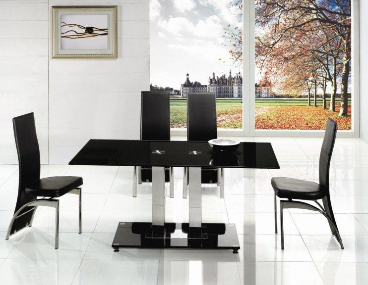 45++ Small black glass dining table and chairs Trend
