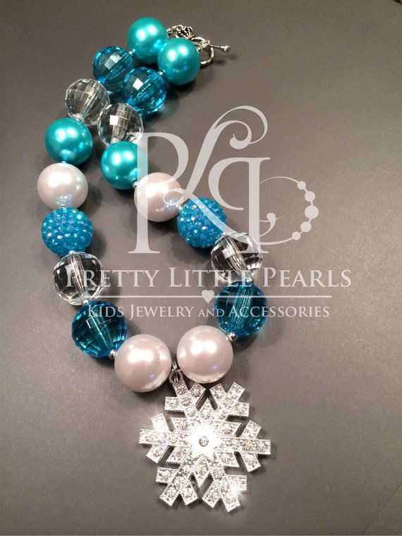 Frozen Inspired Chunky Necklace This big and vibrant chunky bead necklace makes the perfect accessory for any little girls outfit! The