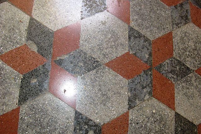 Cementine rovinate dall acido pavimenti pavimenti