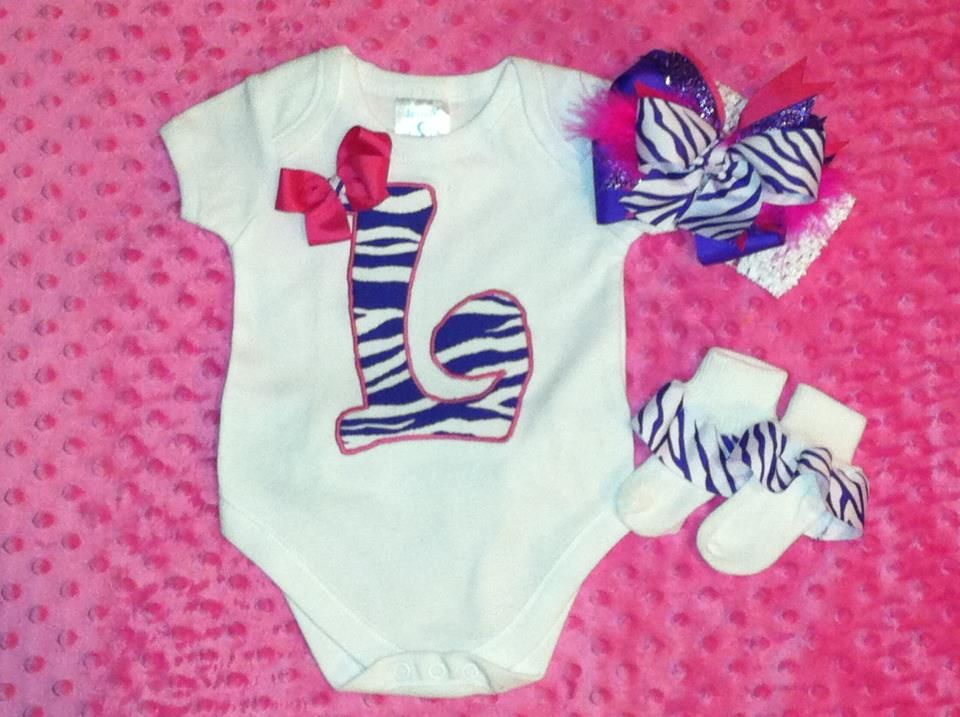 SUPER CUTE Initial Set!!!  There is also a ruffle on the booty!!