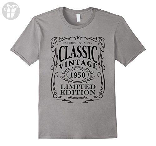 Mens Vintage 1950 T-Shirt - 67th Birthday Gift Shirt 2XL Slate - Birthday shirts (*Amazon Partner-Link)