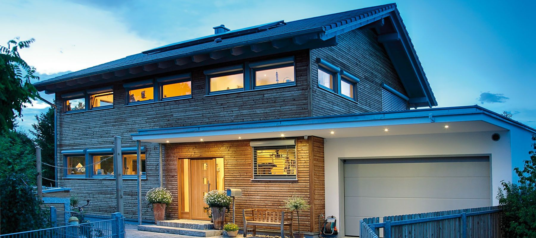 Kundenhaus Augsburg - ein Holzhaus im modernen Stil - Sonnleitner.de ...