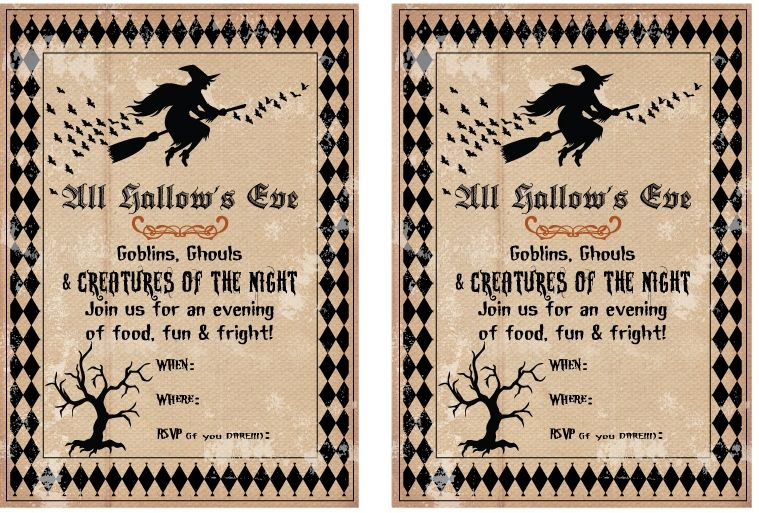 picture regarding Free Printable Halloween Invitations for Adults named Humorous Free of charge printable Halloween invites for older people Totally free