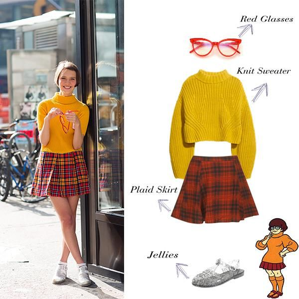 Velma Dinkley Essentials- A bright yellow turtleneck sweater and ...