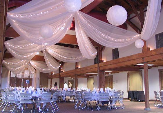 B-E-A-Utiful Wedding Decorations | Christmas lights, Ceilings and ...