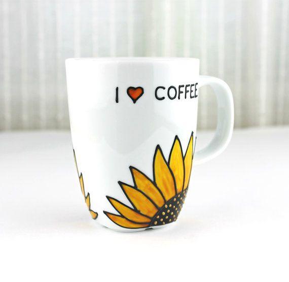 smart idea porcelain coffee mugs. Porcelain Cup Sunflower Design Coffee Mug by witchcorner  Latte