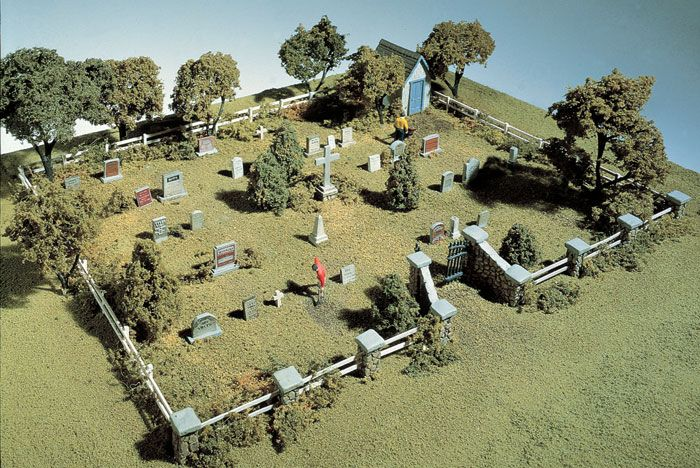 Maple Leaf Cemetery HO Scale Kit Complete Scenes