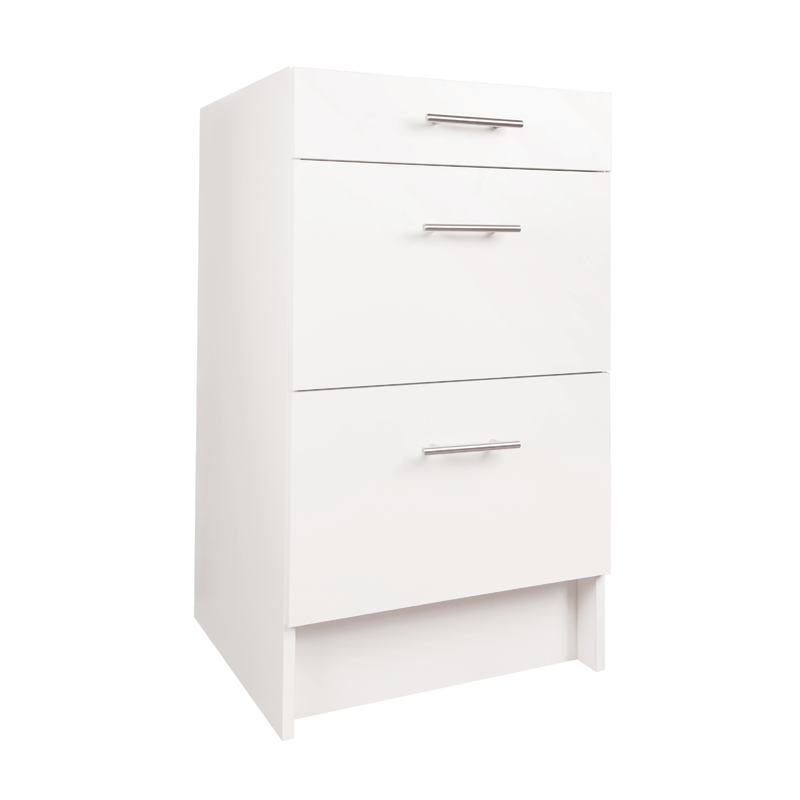 practa 500mm 3 drawer base cabinet bunnings warehouse in 2020 storage drawers base cabinets on kaboodle kitchen bunnings drawers id=84565