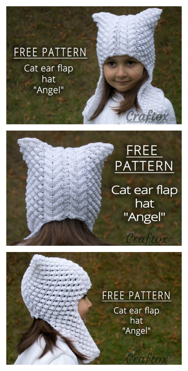 Cat Ear Hat Free Knitting Pattern (With images) | Cat ears ...