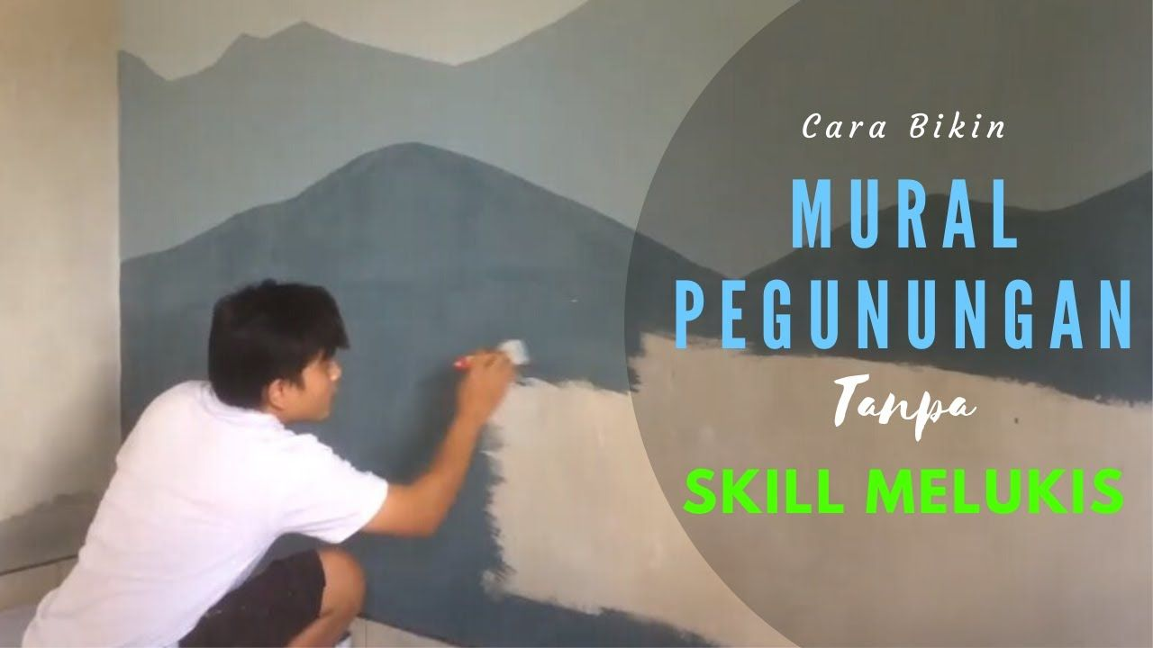 The Idea Of Mountain Bedroom Mural Paint Without Painting Skills Ide Cat Kamar Tidur Ide Tidur