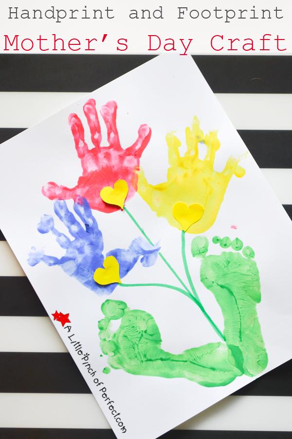 18++ Hand and footprint flower craft ideas