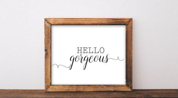 Best Hello Gorgeous Quote Printable Bathroom Decor Girl 640 x 480