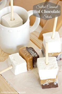 The Kitchen McCabe: Salted Caramel Hot Chocolate Sticks