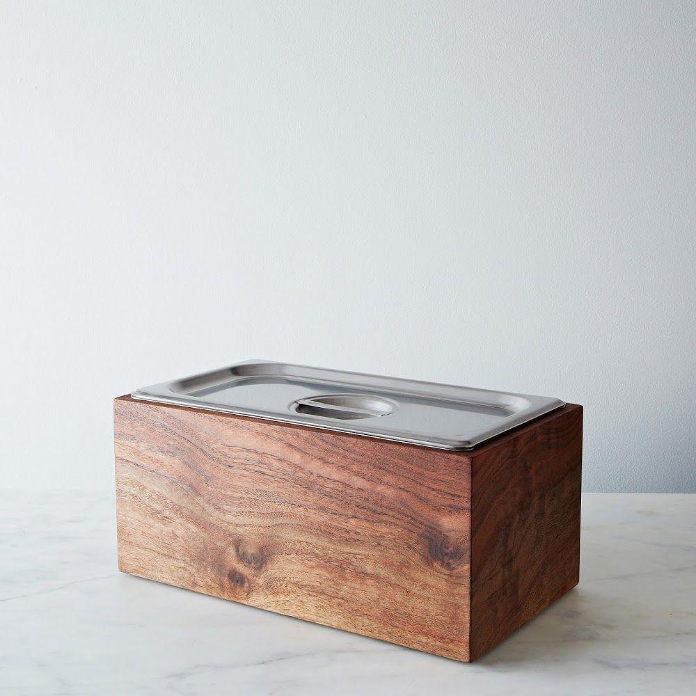 Noaway Countertop Walnut Compost Bin Replacing Kitchen