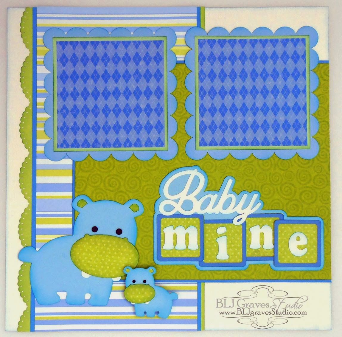Baby Boy & Girl Scrapbook Pages