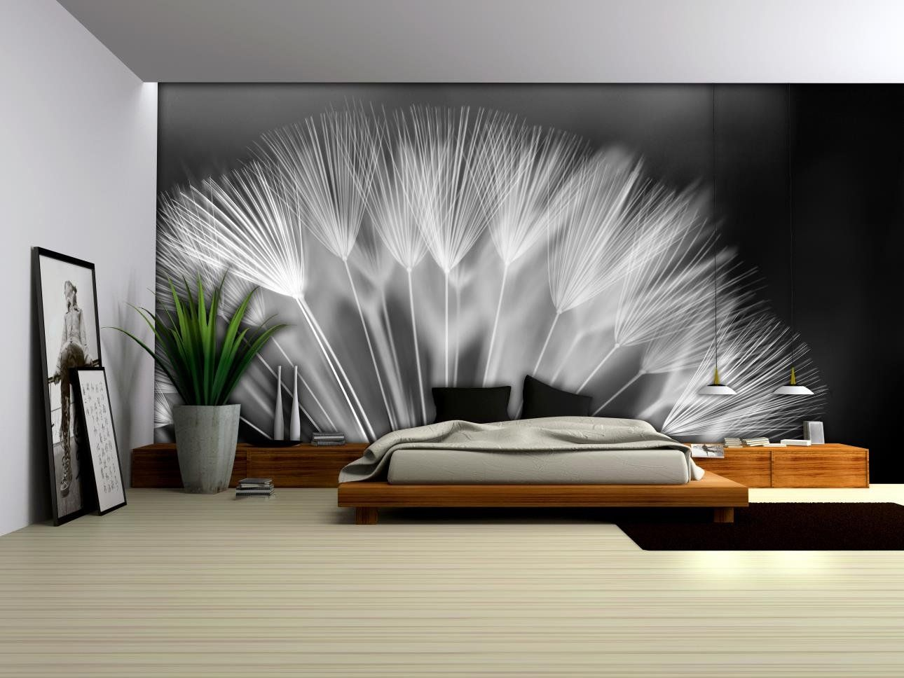 fototapete pusteblume poster wandbild bilder tapeten tapete foto 292 p4 baumarkt. Black Bedroom Furniture Sets. Home Design Ideas