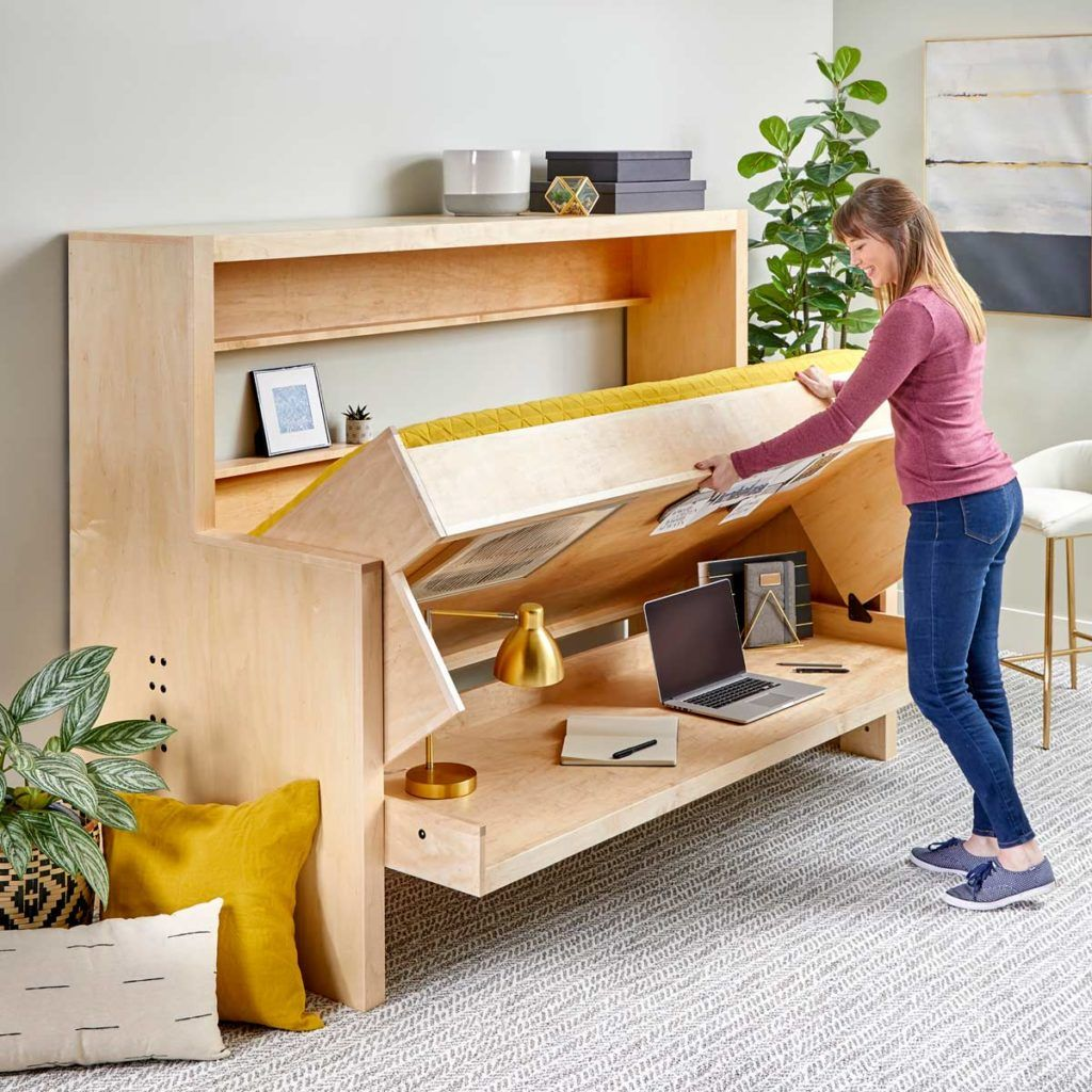How to Build a Murphy Bed that Easily Transforms into a