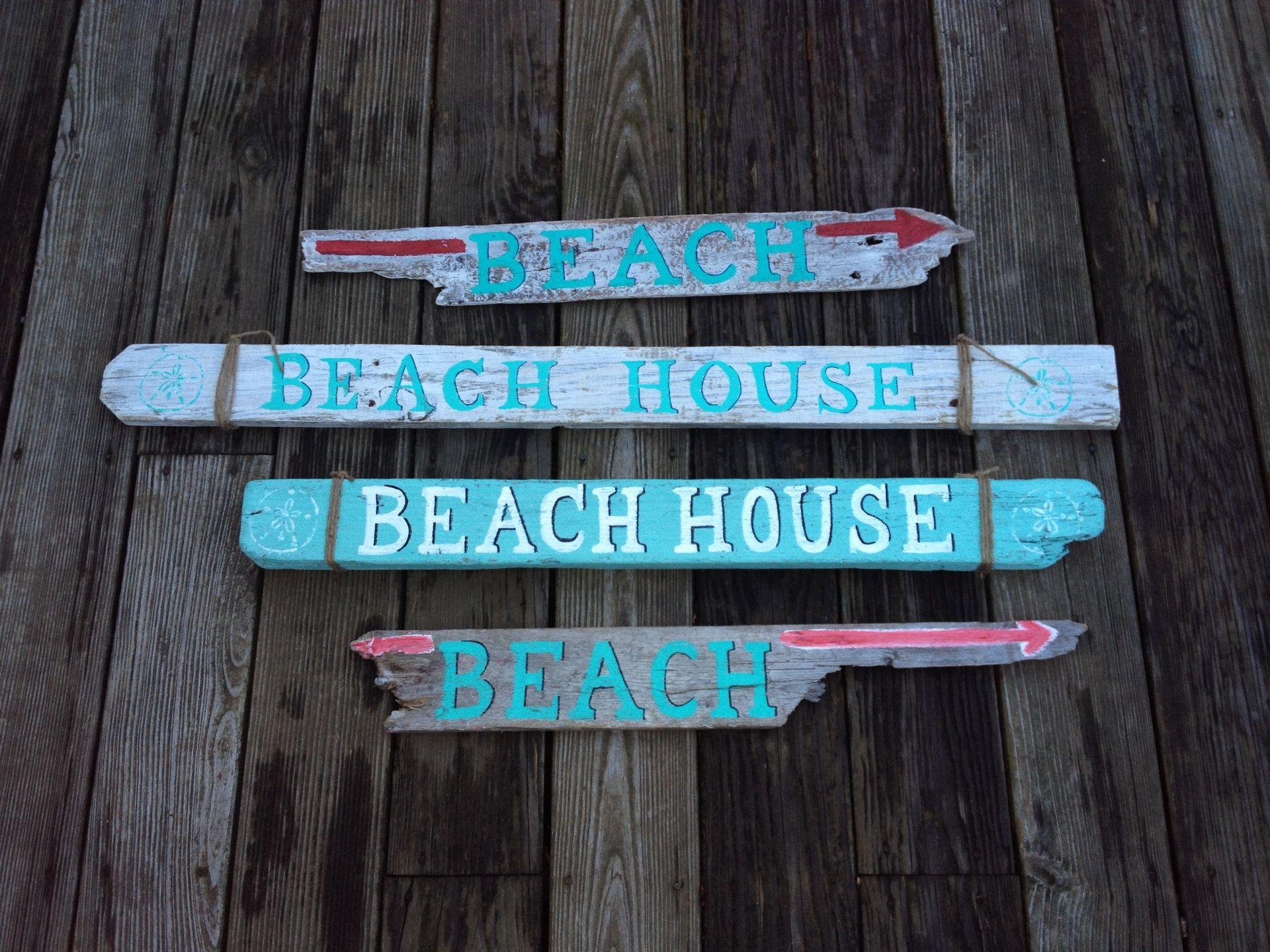 Custom, hand painted wooden signs by www.TotallyADrift.com #ack #nantucket #nantuckethomedecor #nantucketwoodensign #nauticaldecor #BeachHousesigns #beachdirectionalsigns