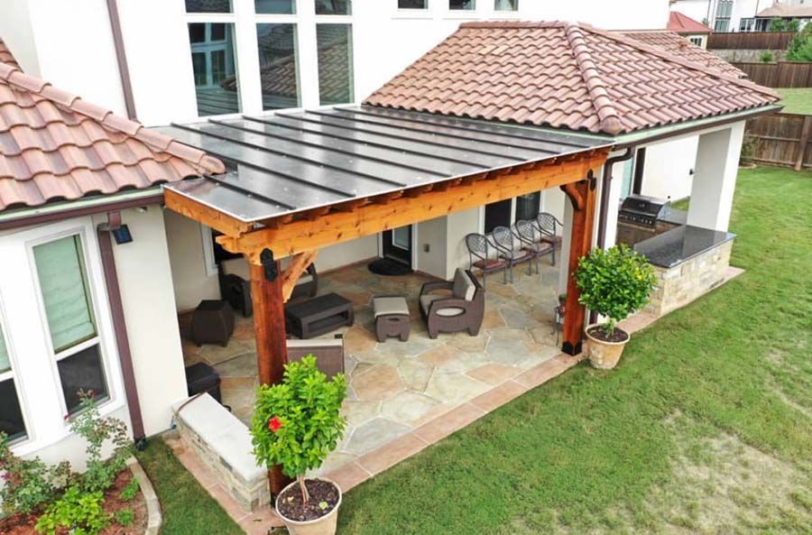 Polygal Roof Panels for Pergolas Clear Plastic Patio