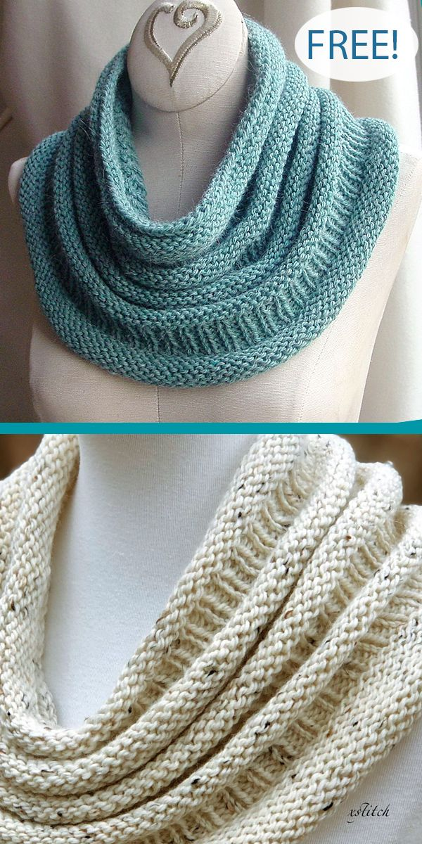 Free Knitting Pattern for Easy One Skein Copycat Cowl #knittingpatterns
