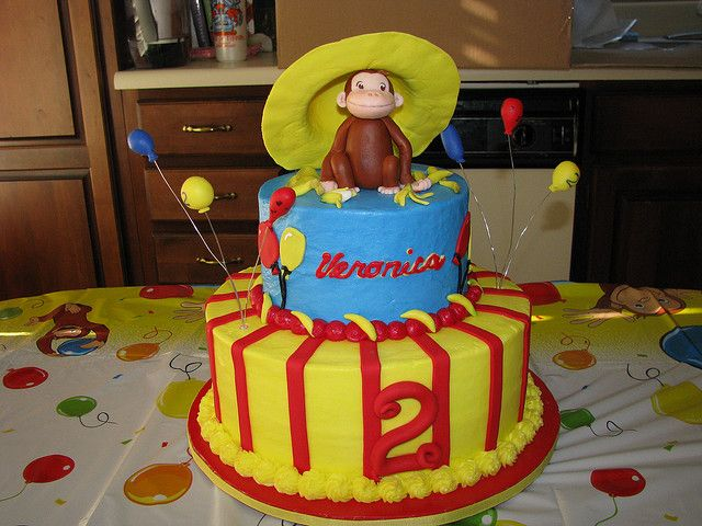 Curious George cake. I'm totally impressed and completely unable to duplicate. ;)