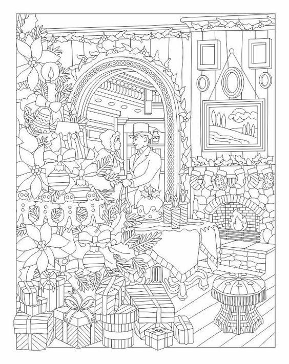 Christmas Holiday Coloring Page Coloring Pages Winter Christmas