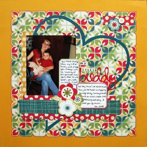 My Little Buddy Made With Cosmo Cricket Early Bird Collection Scrapbooking Layouts Cosmos Cute Box