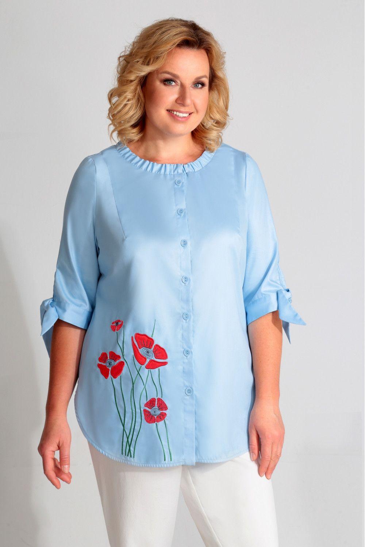 Летние блузки больших размеров из Белоруссии. На фото ...