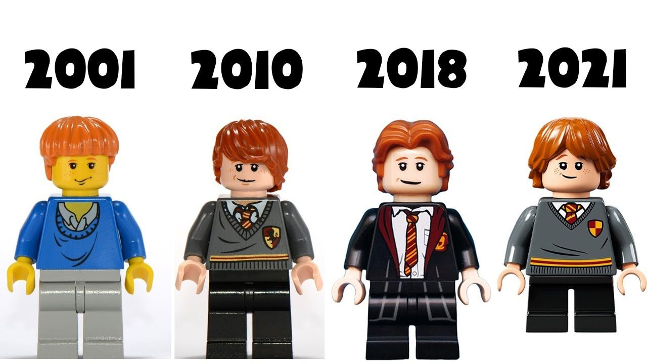 Lego Harry Potter Characters Evolution 2001 2021 Lego Harry Potter Harry Potter Characters Character
