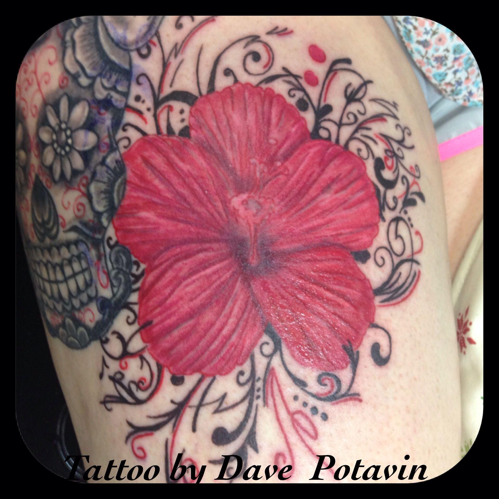 Hibiscus flower tattoo my tattoos pinterest hibiscus flower hibiscus flower tattoo izmirmasajfo