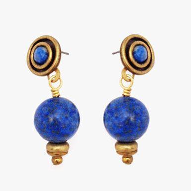 Jan Michaels Gemstone Sphere Drop Earrings