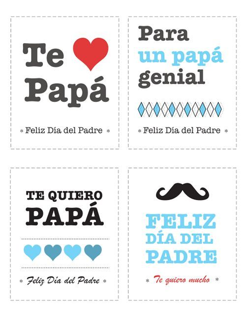 Tarjetas Para Felicitar El Dia Del Padre Del Dia El