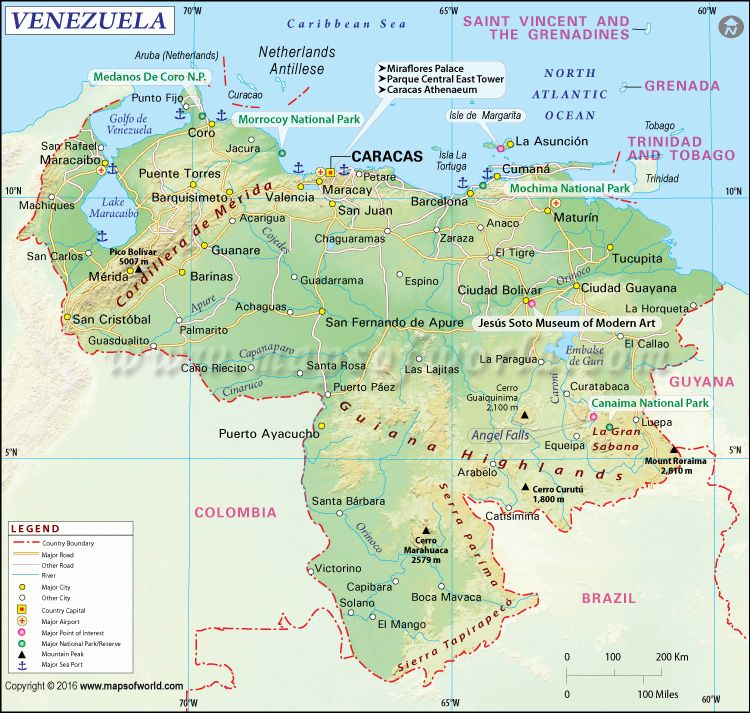 This map includes the major cities of venezuela with other main this map includes the major cities of venezuela with other main highlights of the country sciox Gallery