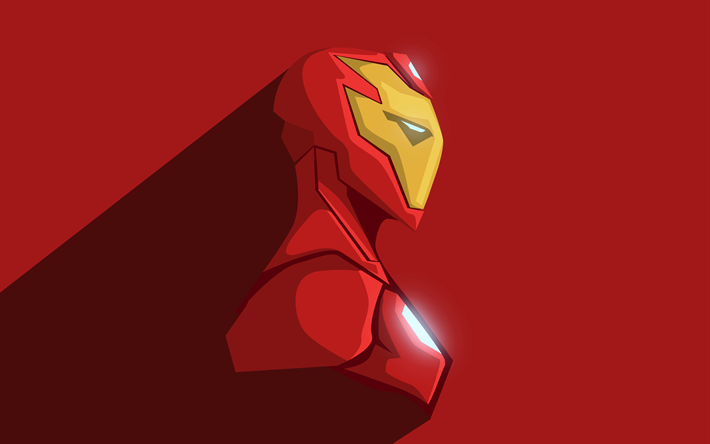 Download Wallpapers 4k Iron Man Minimal Superheroes Art Ironman