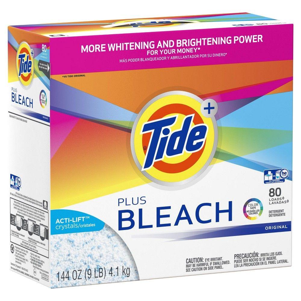 Tide Original Plus Bleach Powder Laundry Detergent 144oz