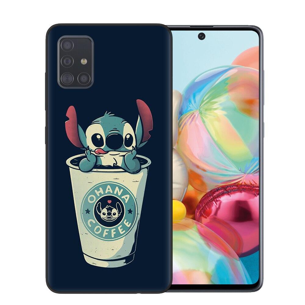 Cute Cartoon Stitch Soft Tpu Phone Case For Samsung Galaxy A10 A20 A30 A40 A50 A70 A51 A71 S20 Ultra Plus Cover Coque Ca Disney Cases Samsung Cases Phone Cases