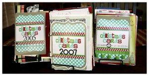 Mä olenkin miettinyt miten noi joulukortit vois säilöö, sääli heittää hiitä pois.