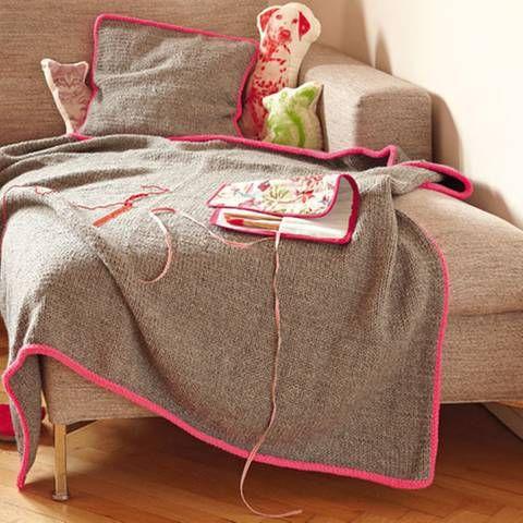 Zum Kuscheln Edle Decken stricken - tür für küchenschrank