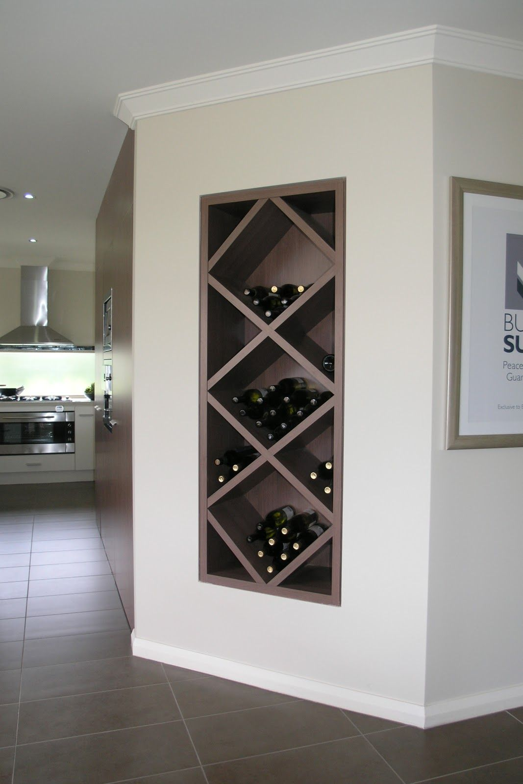 Built in wine nook - perfect for dining room/kitchen wall ...