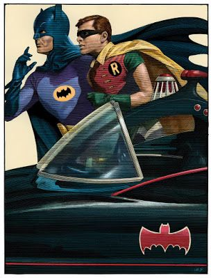 Mark Summers Batman 66 Print From French Paper Art Club
