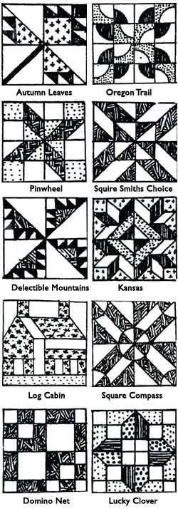 sample quilt blocks   Barn quilt patterns, Barn quilts ...