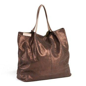 Cerise & Louis - Sac à main femme cabas en cuir Made in France - marron - 1705736
