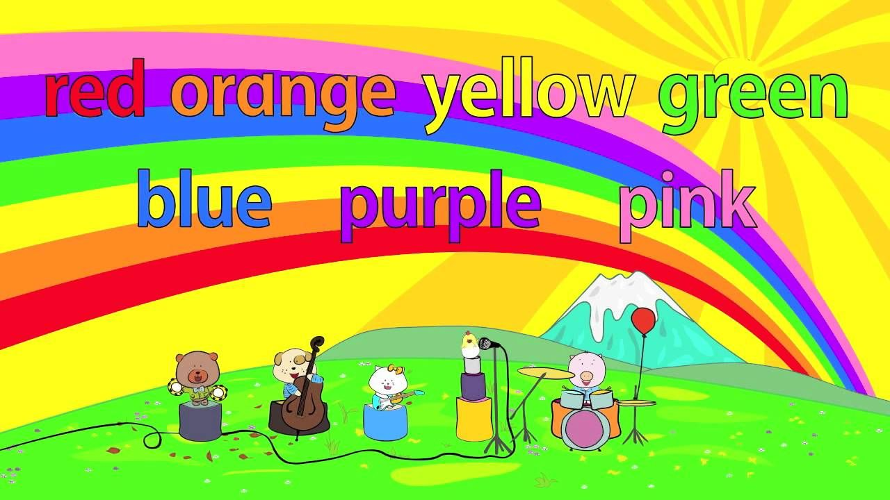 The Singing Walrus Presents Rainbow Colors A Fun Upbeat Rock Song That Teaches Children The 7 Col Color Song For Kids Color Songs Learning Colors For Kids
